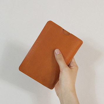 brown passport case