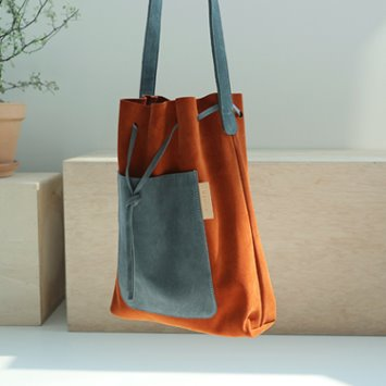 dano suede shoulder bag - brown