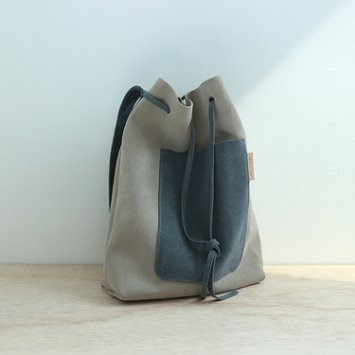 dano suede shoulder bag - gray